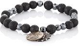 Miracle Icons Men's Beaded Charm Bracelet-BLACK