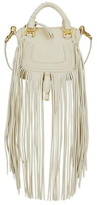 Chloé Mini Marcie Fringe Leather Satchel