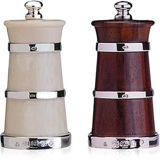 Moda Domus Ivory Salt and Wood Pepper Shaker Set