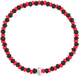 Luis Morais Scarab mini symbol beaded bracelet