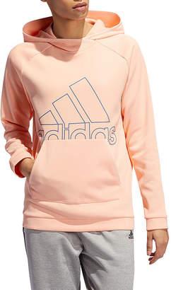 adidas Fleece Womens Long Sleeve Knit Hoodie