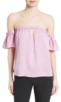 Milly Women's Blaire Off The Shoulder Stretch Silk Top
