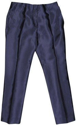 Christian Dior Navy Silk Trousers