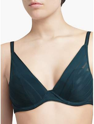 Passionata Graphic Plunge Bra, Peacock Blue