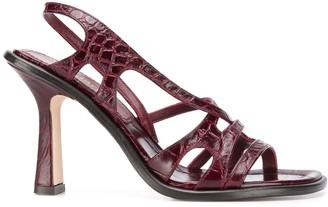 Sies Marjan Embossed Crocodile Effect Sandals