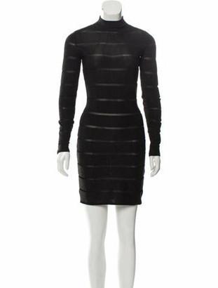 Balmain Mini Bodycon Dress Black