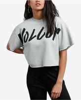 Volcom Juniors' Snip Snip Logo Cropped Sweatshirt