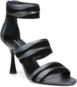 Donald J Pliner Neav Metallic Leather & Suede Sandals