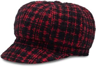 Dolce & Gabbana Tweed Baker Boy Cap