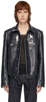 Bottega Veneta Indigo Denim Laminated Jacket