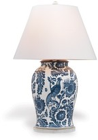 The Well Appointed House Scalamandre Maison Arcadia Indigo Table Lamp with Shade
