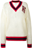 Tommy Hilfiger mesh knit jumper - women - Cotton - M