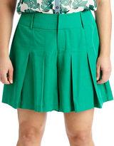 Modamix Plus Plus Pleated Solid Shorts