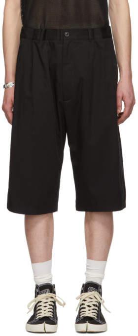 Maison Margiela Black Fine Twill Shorts