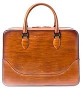 Magnanni Men's Medium Leather Briefcase - Brown