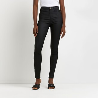 River Island Womens Black coated Hailey jeans