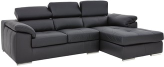 Brady 100% Premium Leather 3-Seater Right-Hand Chaise Sofa