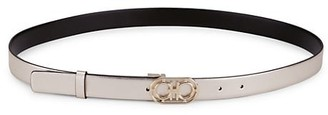 Salvatore Ferragamo Donna Gancini Buckle Leather Belt