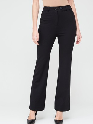 Very Ponte Bootcut Trousers - Black