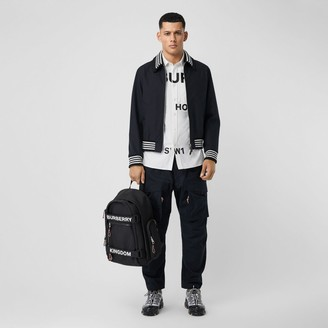 Burberry Detachable Knit Collar Cotton Bomber Jacket