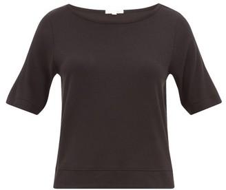 Neha Skin Ribbed Jersey T-shirt - Womens - Black