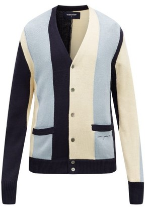 Noon Goons The Droogs Striped Cardigan - Mens - Blue Multi