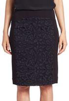 Diane von Furstenberg Bina Lace-Panel Pencil Skirt