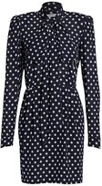 Michael Kors Bow Neck Star Print Sheath Dress