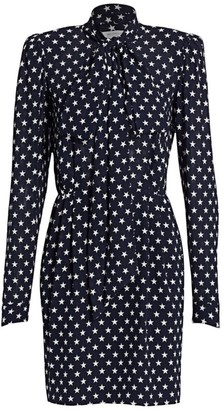 Michael Kors Bow Neck Star Print Sheath Dress