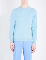 Canali Crewneck cotton and silk-blend jumper