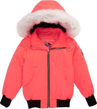 Moose Knuckles Bomber Jacket with Genuine Fox Fur Trim