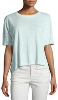 Eileen Fisher Easy Jersey Button-Front Tunic