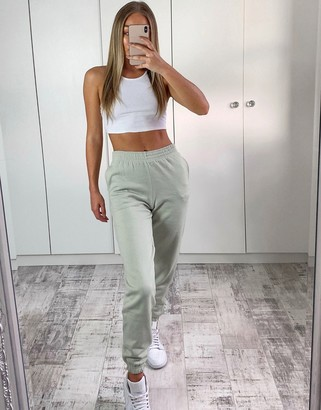 New Look cuffed jogger in light green