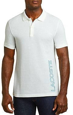 Lacoste Reflective Graphic Logo Regular Fit Pique Polo Shirt