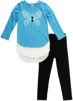 Dollie & Me Blue & Black Tunic Set & Doll Outfit - Girls