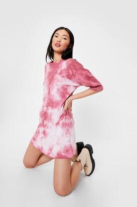 Nasty Gal Womens Not On My Acid Wash Tee Dress - Burgundy