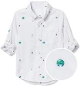 Earth poplin convertible shirt