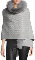 Sofia Cashmere Fox Fur & Cashmere Wrap