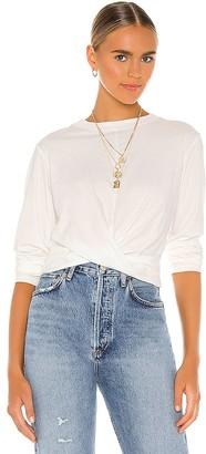 Pam & Gela Long Sleeve Twist Front Top