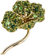 Kenneth Jay Lane Pavé Crystal Flower Brooch