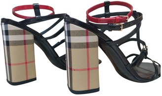 Burberry Black Patent leather Sandals