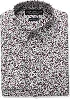 Nick Graham Men's Paisley Print Cotton Dress Shirt