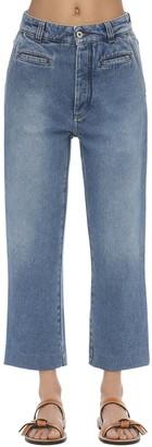 Loewe Wide Leg Fisherman Cotton Denim Jeans