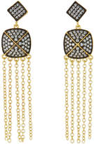 Freida Rothman Pave Drop Fringe Earrings