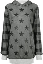 Twin-Set hooded star top - women - Cotton/Polyamide - XS