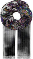Etro Paisley wool and cashmere-blend scarf