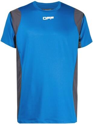 Off-White logo-print performance T-shirt