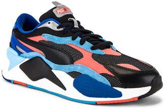 Puma Select RS-X3 Level Up Sneaker in Puma Black & Hot Coral | FWRD