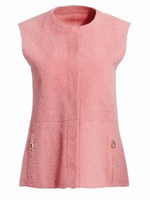 Akris Gulia Reversible Shearling & Leather Vest
