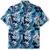 Cubavera Men's Short-Sleeve allover Tropical Print